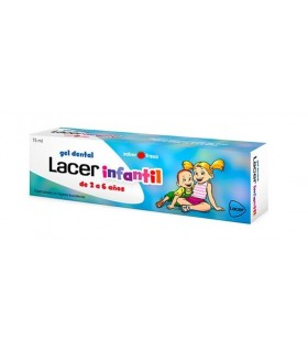 Lacer Infantil Gel Dental Sabor Fresa 75ml