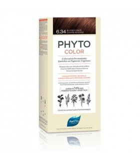 PhytoColor Tinte 6.34 Rubio Oscuro Cobrizo