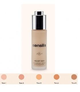 Sensilis Velvet Skin Maquillaje y Serum Hialuronico 02 Noix 30gr