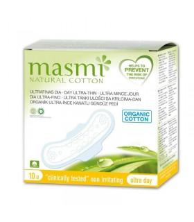 Masmi Compresas Ultra Dia Algodon 10 Uds