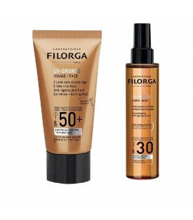 Filorga Pack Solar UV-Bronze Facial SPF50 40ml+Corporal SPF30 150ml