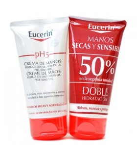Eucerin pH5 Crema de Manos Duplo 2x75ml