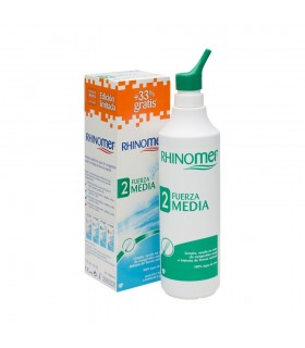 Rhinomer Fuerza 2 Media Limpieza Nasal Nebulizador 135ml + 45ml Gratis