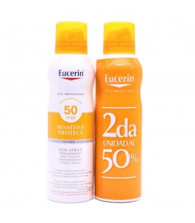 Eucerin Sun Spray Transparente Toque Seco FPS50 2x200ml