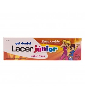Gel Dental Lacer Junior Sabor Fresa 6-12 años 75ml