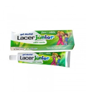 Gel Dental Lacer Junior Sabor Menta 6-12 años 75ml