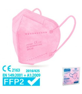 Mascarilla FFP2 Rosa Alta Proteccion 1 Unidad