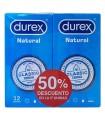 Durex Preservativo Natural Duplo 12+12 ud