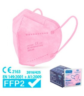 Mascarilla FFP2 Rosa Alta Proteccion Caja 25 Uds
