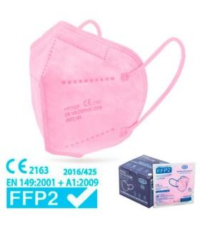 Mascarilla FFP2 Rosa Alta Proteccion Caja 25 Uds