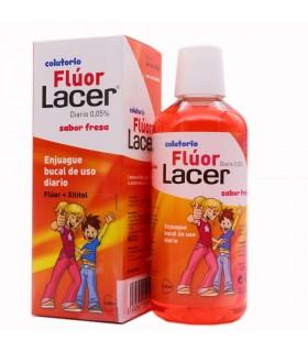 Fluor Lacer Diario 0.05% Colutorio Sabor Fresa 500ml