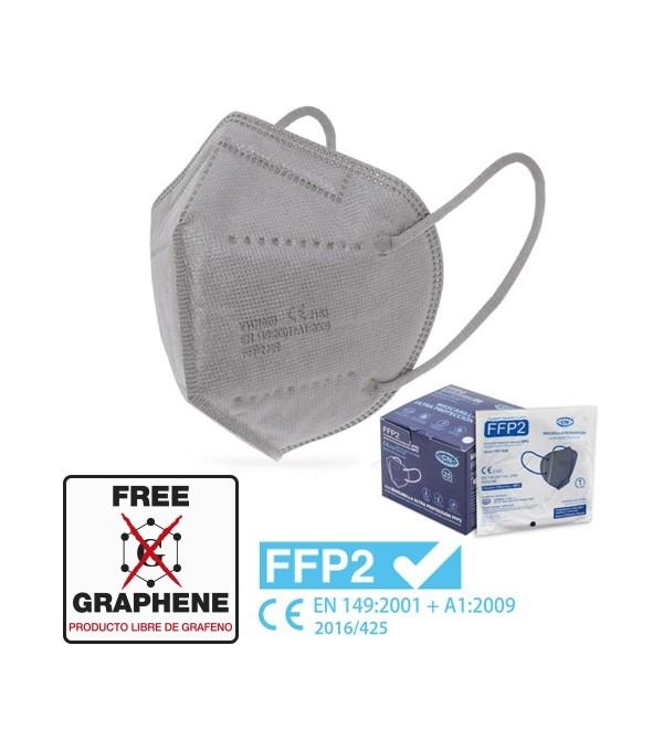 Mascarilla FFP2 Gris Alta Proteccion Caja 25 Uds